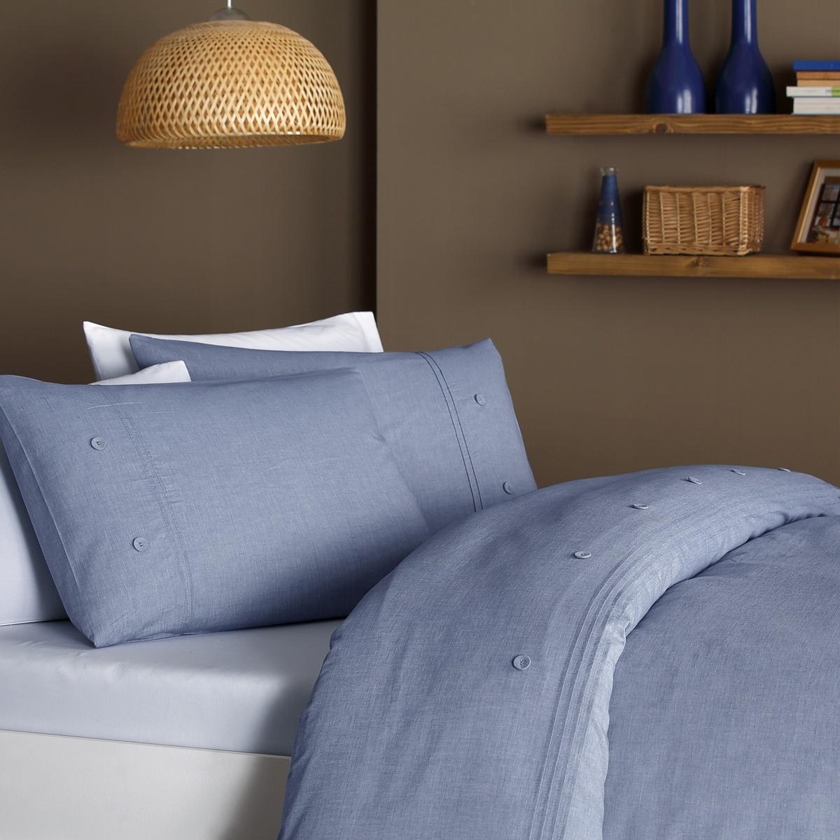 Stanley Hamilton Duvet Set Luxury Hotel Quality, 100% Finest Cotton, Denim Linen Look Bedding Set